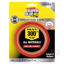 Double-Sided Permanent Mounting Tape (1 roll 19mmx2.5m)