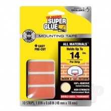Double-Sided Permanent Mounting Strips (10 strips 48mmx18mm)