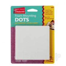 Foam Mounting DotsDouble-Sided  75in Diameter (48 Dots)