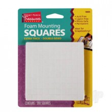 Foam Mounting Squares Double-Sided Extra Thick (200 Squares)