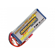 1600mAh 2S 7.4v 35C LiPo Supersport Pro