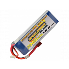 2900mAh 2S 7.4v 35C LiPo Battery - Overlander Supersport Pro