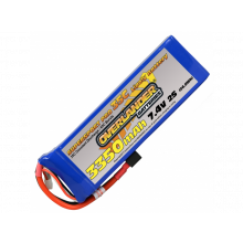 Lipo Batteries 3350mAh 2S 7.4v 30C Supersport- SKU 2569