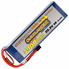 3900mAh 6S 22.2v 35C LiPo Battery - Overlander Supersport Pro