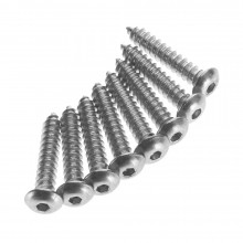 #6 x 3/4 Inch Button Head Sheet Metal Screws (8)