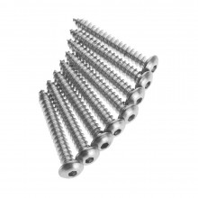 #6 x 1 Inch Button Head Metal Screw (8)