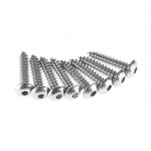 #8 x 3/4 Inch Button Head Metal Screw (8)