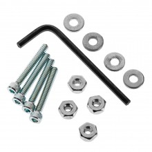 6-32 x 1 Inch Bolt Set/Lock Nuts (4)