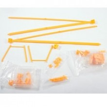 TOP GUN PARK FLITE J3 PIPER CUB PARTS/RODS - YELLOW