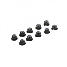 M3 Flanged Aluminium Lock Nuts Black (10)