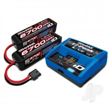 iD Completer Pack with 1x EZ-Peak Live Charger & 2x LiPo 4S 6700mAh Battery