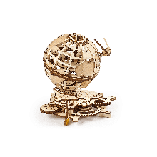 UGears Globe Wooden 3D Puzzles Spinning Wooden Construction Kit Mechanical Globe with The Shuttle and The Sputnik