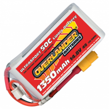 1350mAh 4S 14.8v 50C LiPo Battery with XT60 Connector - Overlander Ultrasport