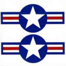 Becc USAF Stars and bars post 1947 decals