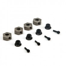 Wheel Hex Pins & Serrated Lock Nut: ASN (4)