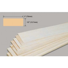Balsa Sheet 1/2x3x36 Inch/12.7x76x914mm