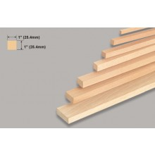 Balsa Block 1x1x36 Inch/25.4x25.4x914mm