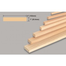 Balsa Block 1x4x36 Inch/25.4x102x914mm