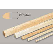 Balsa L.Edge - 3/4x36 Inch/19.0x914mm