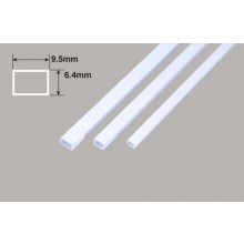 Rectangle Tube - 9.5 x 6.4 x 375mm