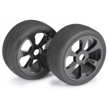 Wheel set buggy 6 Spoke/Street black 1:8