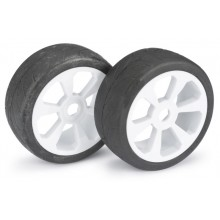 Absima Wheel Set Buggy 6 Spoke / Street white 1:8 (2 pcs)