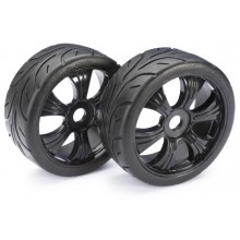 Absima Wheel Set LP Buggy Street black 1/8 (Pair) (BOX71)