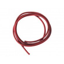 6mm Extra Heavy Duty Silicone Wire 1m Red - SKU 1235