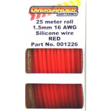 25 meter roll 1.5mm 16AWG Silicone Wire Red - SKU 1226