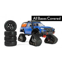 Blue TRX-4 with All-Terrain Traxx 1:10 4WD Electric Truck RTR (+ TQ XL-5 HV Titan 550)