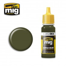 Ammo Mig Jimenez Acrylic 17ml Paint ZASHCHITNIY ZELENO (RUSSIAN POSTWAR GREEN)