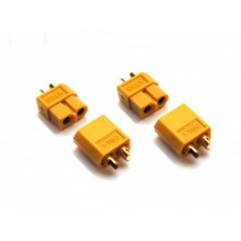 XT60 Precision profile connector 60A-80A 2prs- SKU 2633