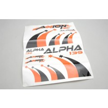 Decal Sheet(Orge-Blk)Alpha 139 BL 3