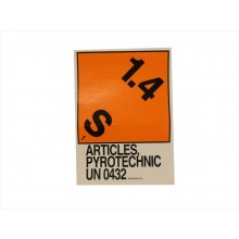 1.4S Explosives Label with Proper Shipping Name UN0432