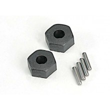 Wheel hubs hex (2)/ stub axle pins (2)