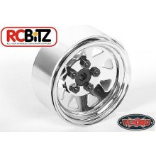 5 Lug Wagon 1.9 Steel Stamped Beadlock Wheels (Chrome)