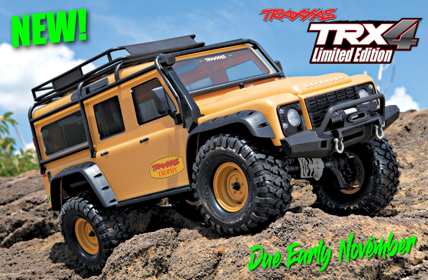 Traxxas Trx 4 Crawler Land Rover Defender 110 Tan Edition For Pre Sonic 150r Aggresso Matte Black Solo Order Only Sussex Model Centre Smc